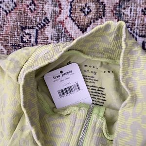 Free People Tops - NWT Free People Leopard lime layering top